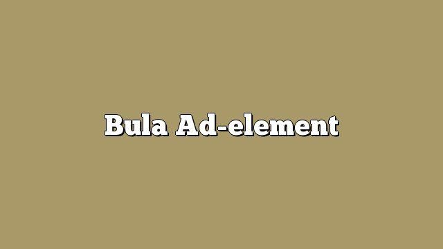 Bula Ad-element