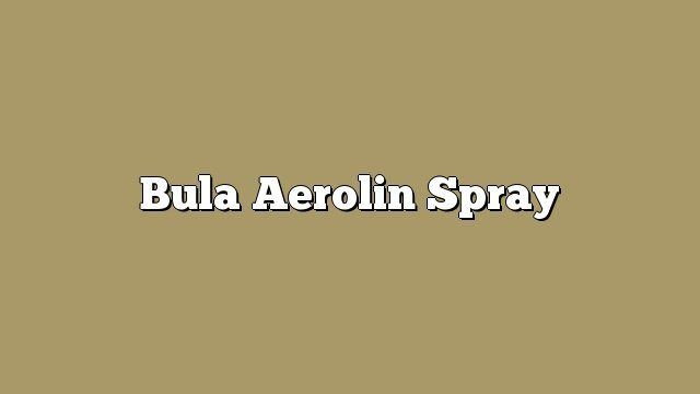 Bula Aerolin Spray