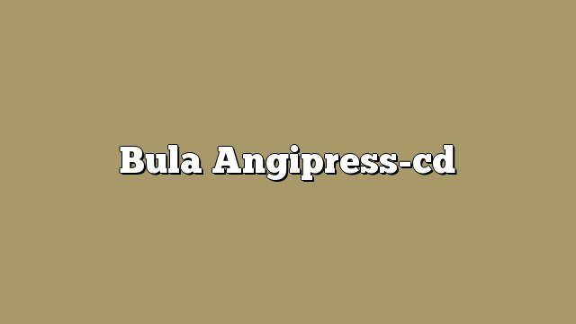 Bula Angipress-cd