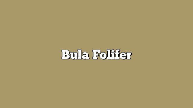 Bula Folifer