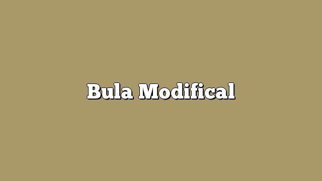 Bula Modifical