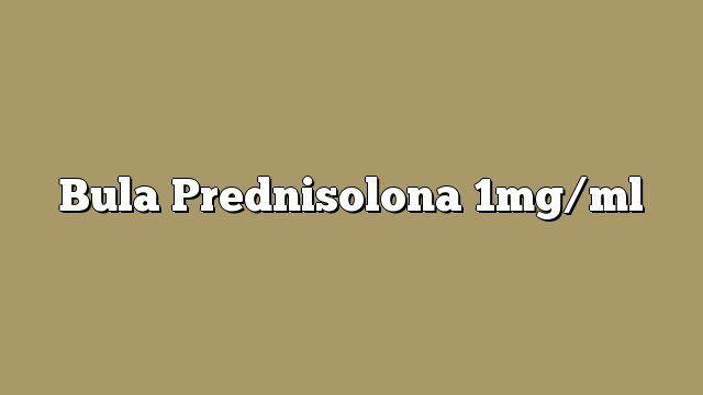 Bula Prednisolona 1mg/ml