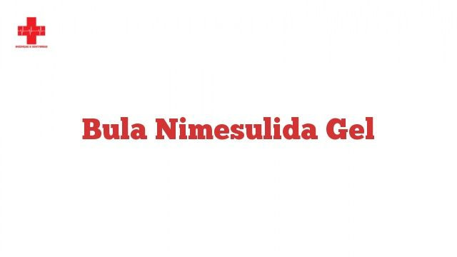 Bula Nimesulida Gel